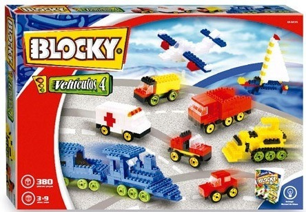 Bloques Blocky Vehiculos 4 X 380 Piezas Dimare