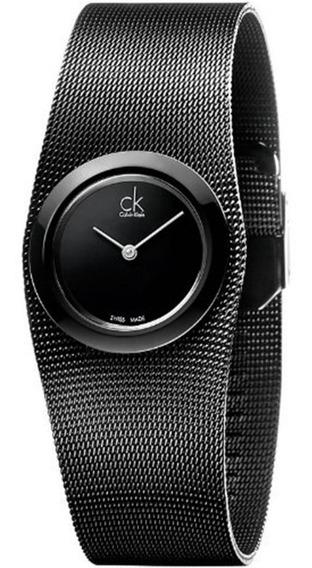 Calvin Klein K3t23421 Stainless Steel Black 12xsjuros Promoção!!!