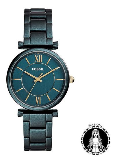 Relógio Fossil Carlie Verde - Es4427/1vn C/ Nf E Garantia U