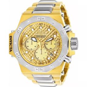 Relógio Invicta Akula 23102 Masculino Pulseira Dourado Com P