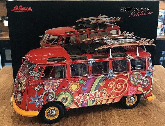 Automóvel 1:18 Vw Kombi Hippie