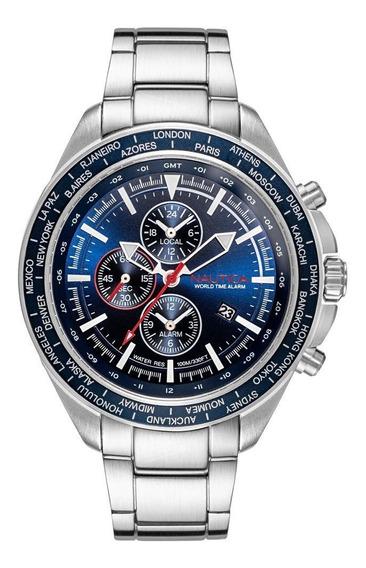 Relógio Náutica Fundo Azul 48mm Mod. Napobp906 Garantia Novo