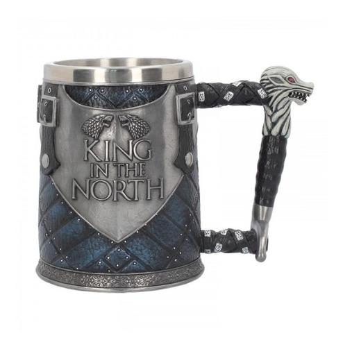 Mug Taza Vaso Game Of Thrones Resina 3d King In The North