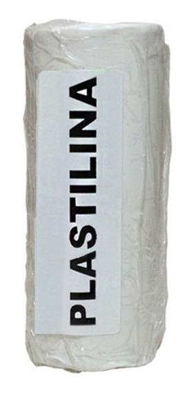 Massa De Modelar ( Tipo Clay ) Plastilina Branca Caixa 500 G