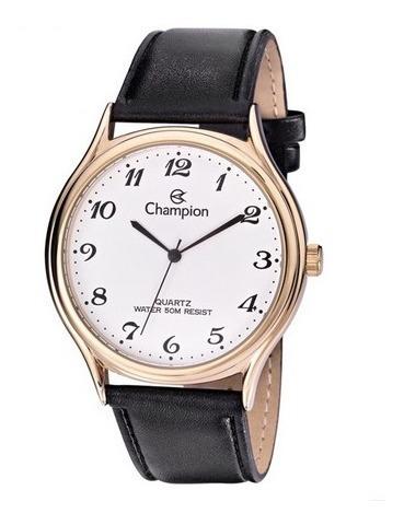 Relógio Champion Masculino Couro Cn20024d Novo Original
