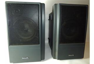 2 Bafles Philips Caja Plástica Woofer 5 Tweeter 2