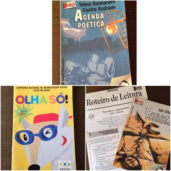 Lote De Livros Variados Literatura Nacional - 3 Livros