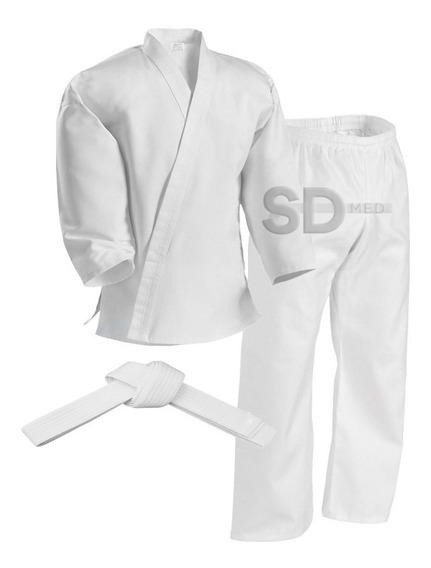 Karategui Con Cinturón Blanco 10 Tallas Artes Marciales
