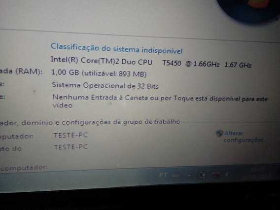 Placa Mãe + Processador Do Notebook Cce Win J95