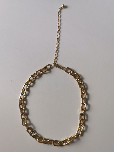Chocker Inspired Cartier Elos Banho Ouro Usada 3 Vezes