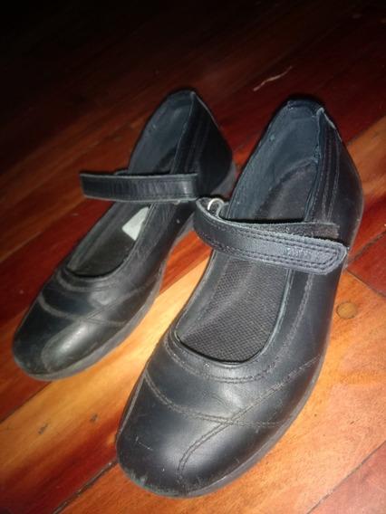 Zapatos Colegio Negros Nro 35 .usado Buen Estado