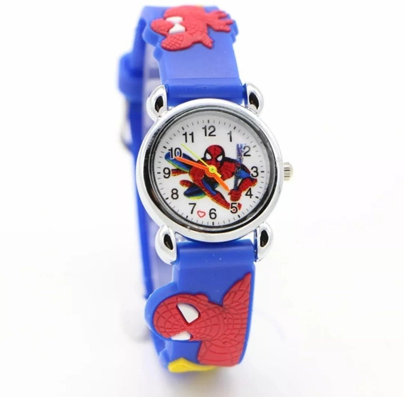 Relógio Infantil Menino De Pulso Homem Aranha 3d