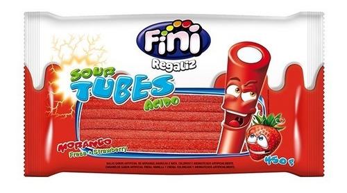 Gomitas Fini Tubes Fresa Acido X 450 Grms *ideal Candy Bar*