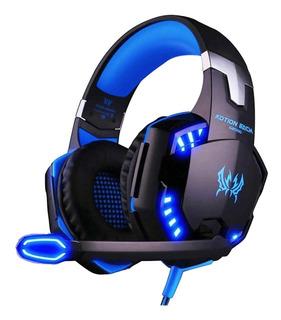 Auricular Gamer Kotion Each Blue Pc Ps4 Fortnite Ade Ramos