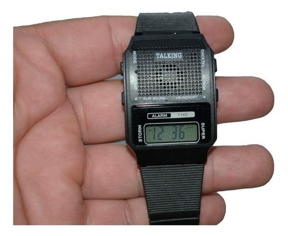 Relógio Que Fala Horas Para Idosos Ou Cegos Com Frete Grátis
