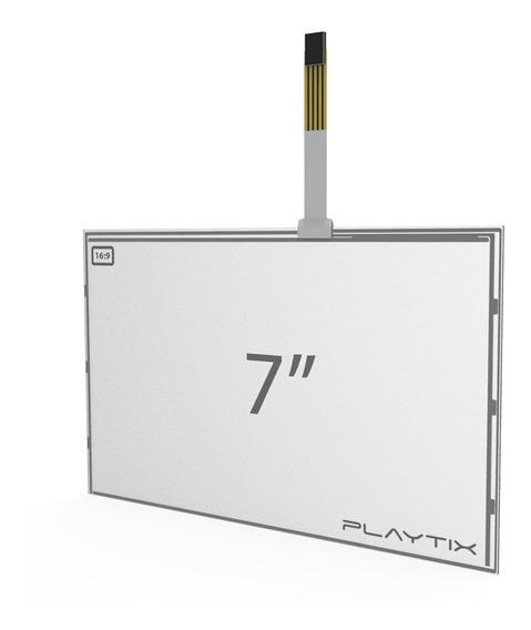 Kit Sistema Touch Screen Resistivo 7 Wide Usb 4 Vias Playtix