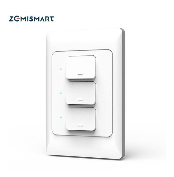 Interruptor Wi-fi Zemismart 3 Botões - Google Home E Alexa