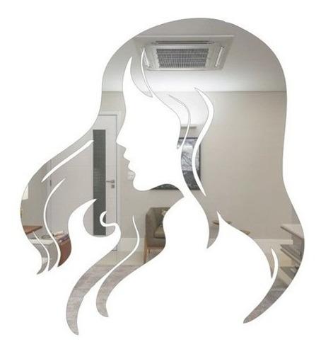 Imagem 1 de 4 de Espelho Decorativo Para Salão De Beleza Face Feminina