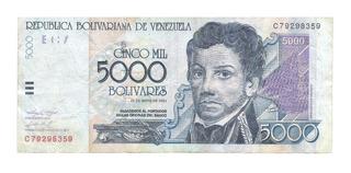 5.000 Bolívares Serie C Del 25-05-2.004