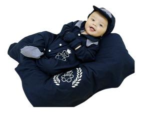 Kit Bebê Saída Maternidade Menino Enxoval Ursinho Azul Escur
