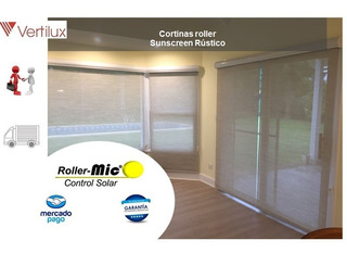 Cortinas Roller- Black Out- Sunscreen-traslúcidas- Rusticas
