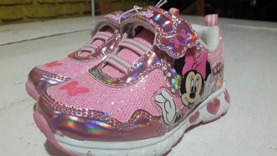 Zapatillas Minnie Con Luces. Marca Disney Original