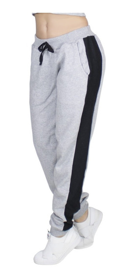 Kit 10 Calça Moletom Feminina Jogger Listrada Inverno 311