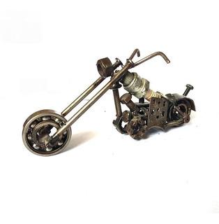 Escultura Reciclaje Moto Chopper