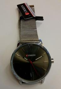 Relógio Curren Silver Black Pronta Entrega