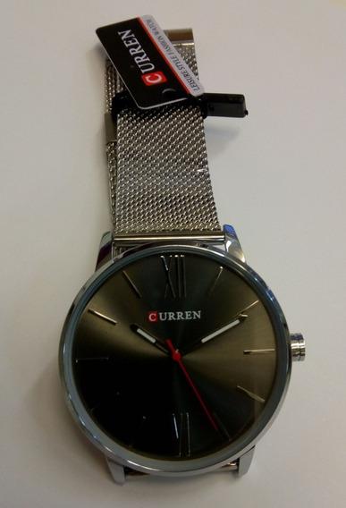 Relógio Curren Silver Black - Pronta Entrega