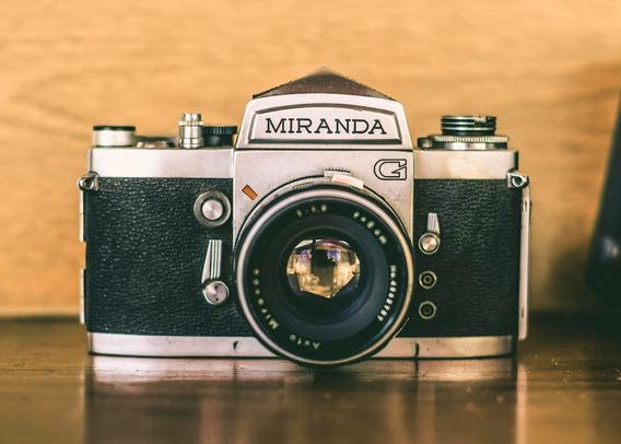 Camera Antiga Miranga G + Lentes - No Estado
