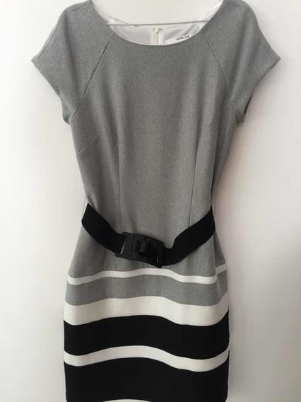 Vestido Importado Con Cinto Talle 8 Usa Studio One_an&av