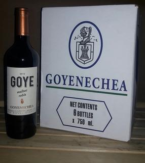 Vino Malbec Roble Goyenechea X 6 Uds. Excelente Vino Tinto.