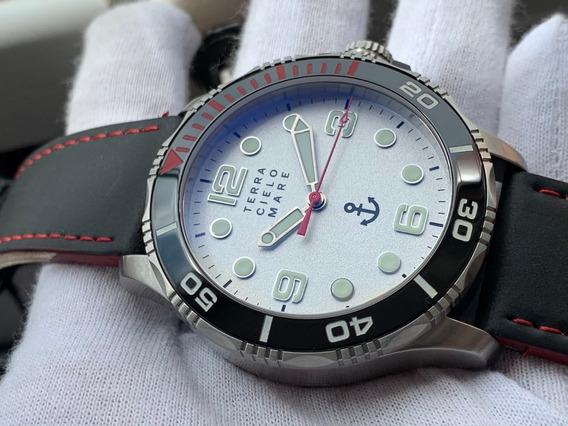 Relógio Terra Cielo Mare Delfino Argento Automatic