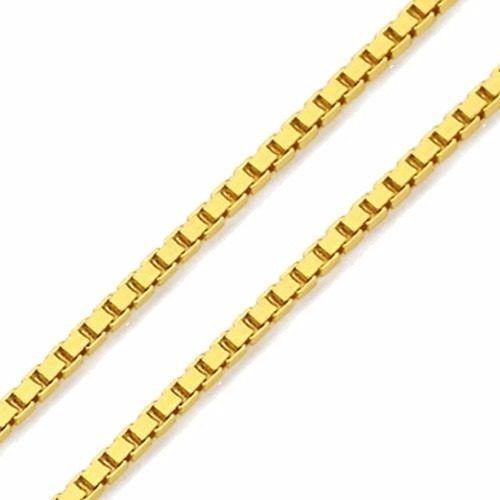 Corrente De Ouro 18k Veneziana 45cm Com 1,5g - F25
