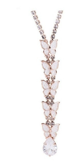 Swarovski Elements Oferta Collar Mariposas Perla