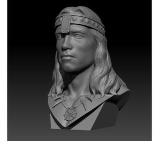 Archivos Stl Para Impresión 3d - Conan Busto Arnold