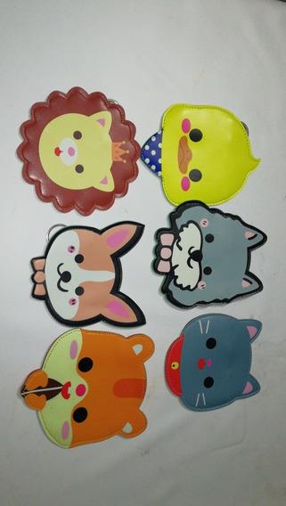 Monedero De Animalitos Moda Japonesa Perrro Gato Pollo