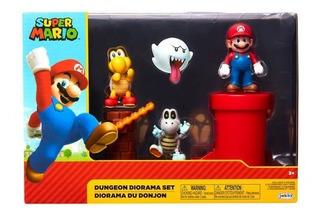 Nintendo Set Diorama Dungeon Super Mario Jakks Orangegame