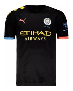 Camisa Manchester City Preto Original 2019 Oficial Promoção