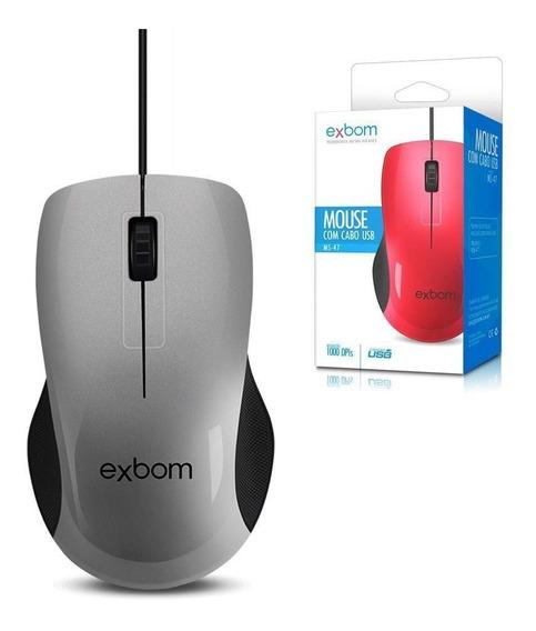 Mouse Usb Com Fio Ms-47 - Exbom