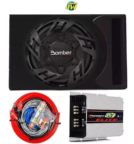Combo Sub Bomber Carbon 12 250 Rms + Cajon Slot + Taramps 25