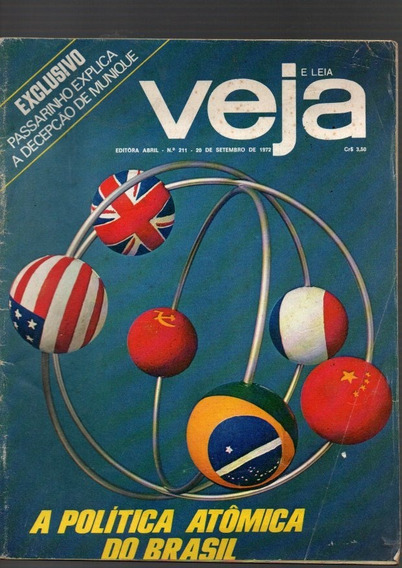 Revista Veja A Política Atômica Do Brasil Nº 211 De 72