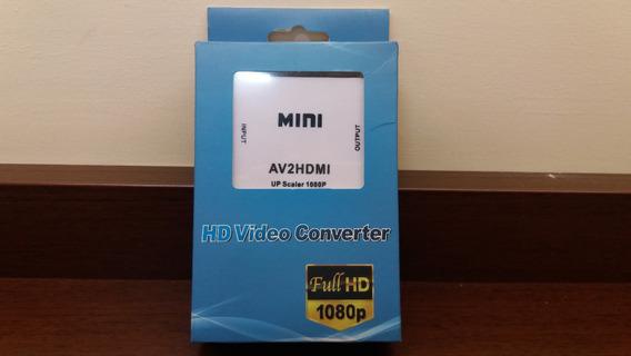 Conversor De Av2 P/hdmi Hd Video Converter Full Hd Rca