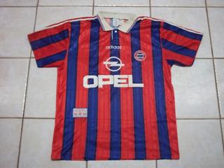 Camisa Do Bayern De Munique - Ano:1995 - Opel adidas Munchen