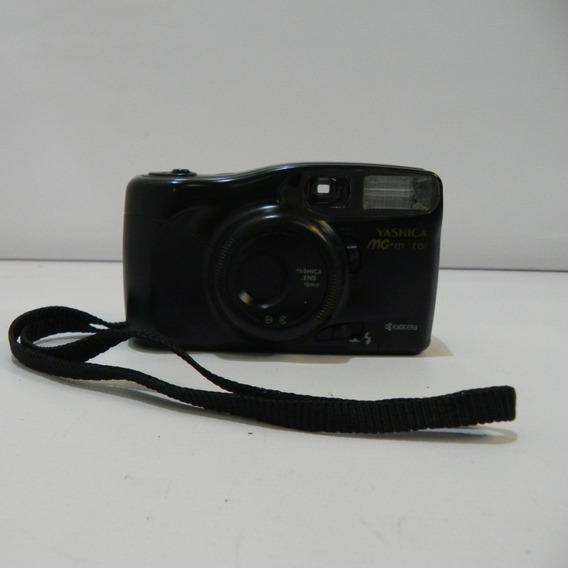 Câmera Analógica Antiga Yashica Mg-motor Kyocera Com Defeito