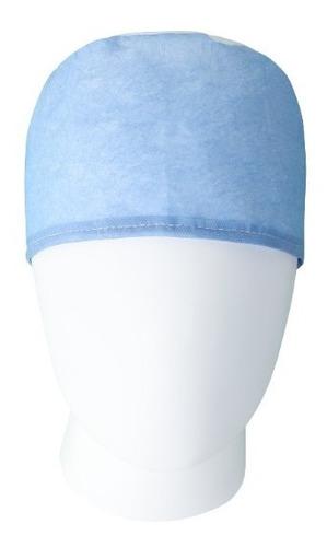 Imagen 1 de 3 de Gorro Cirujano Desechable  Talla Unica Azul (pte 200 Uni)