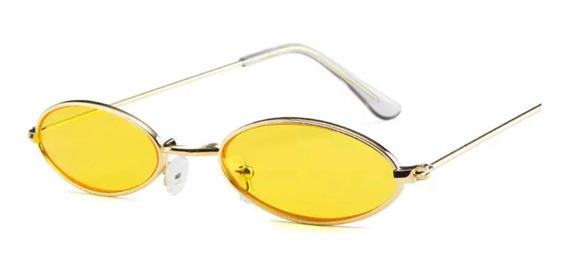 Óculos Sol Tendencia 2019 Retro Vintage Uv400 Oval + Brinde