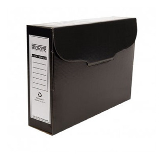 Caja Archivo Carton Negro 9cm Panchrome
