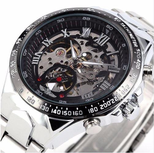 Relógio Masculino Automático Modelo Esqueleto Winner